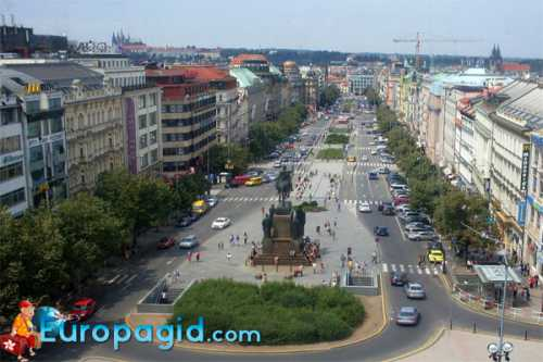 вацлавская площадь на карте : все дороги ведут сюда